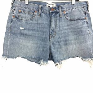 Madewell Denim Boyshorts Cutoffs Frayed Hem Shorts